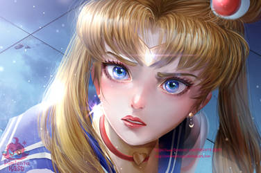 Sailor Moon re-draw by PimientaKast