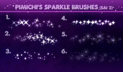 Sparkle Brushes for Sai 2  FREE DL