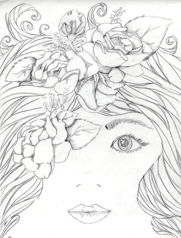 Mother Nature Sketch by itsamel on DeviantArt