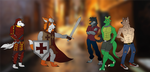 The Knight, The Samurai and The Nightriders by AxlReigns