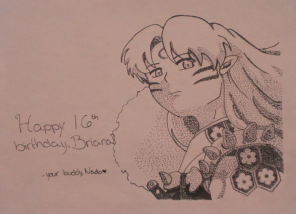 Sesshoumaru - Happy Birthday, Briana! by Nado13579