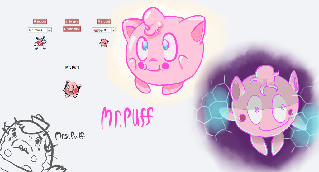 Pokemon Fusion Mr Puff By Crustcringle On Deviantart