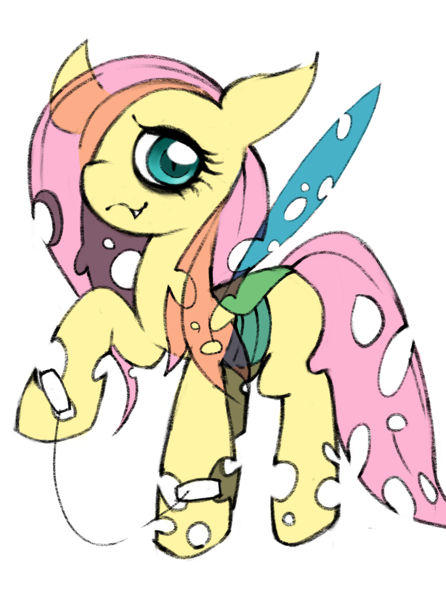 Changeling Fluttershy by hwahoFluttershy Suicide