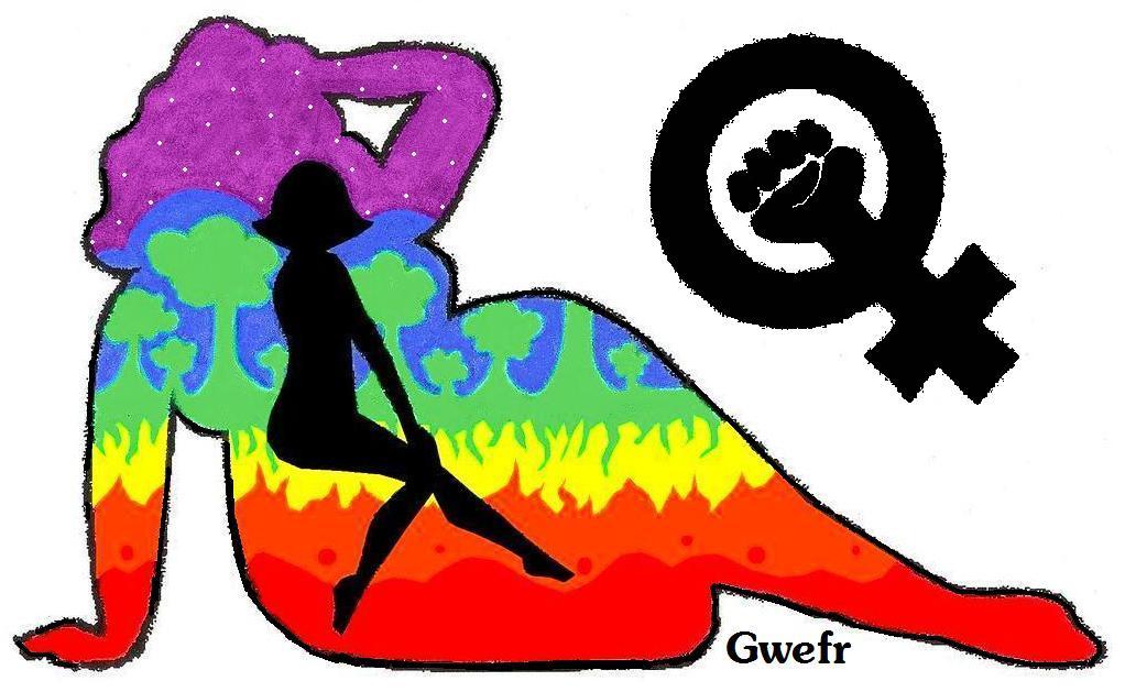 Rainbow Earth Goddesses by Gwefr