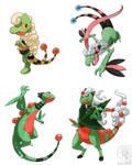 Pokefusions: Mareecko, Flaaffyle, and Amptile