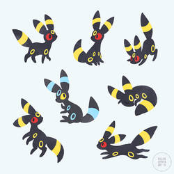 Umbreon Doodles by Virize