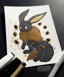 Gilded Eeveelutions Series: Eevee by Virize
