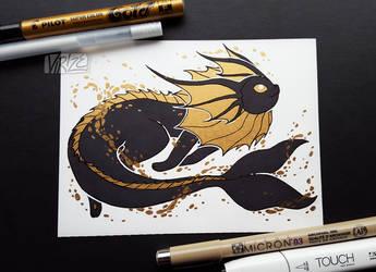 Gilded Eeveelutions Series: Vaporeon by Virize