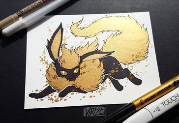 Gilded Eeveelutions Series: Flareon by Virize