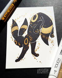 Gilded Eeveelutions Series: Umbreon by Virize