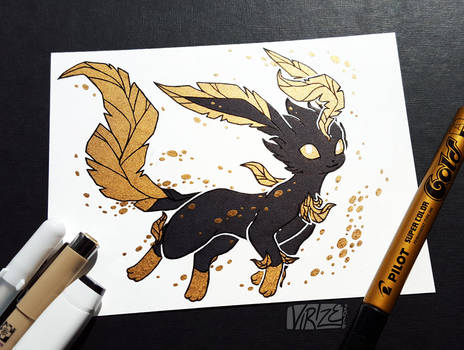 Gilded Eeveelutions Series: Leafeon by Virize