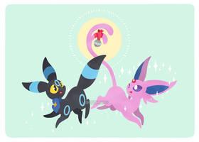 Umbry and Espy, Pokemon Contest Duo by Virize