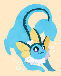 Let's Go, Eeveelutions! Vaporeon by Virize