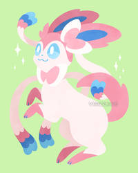 Let's Go, Eeveelutions! Sylveon by Virize