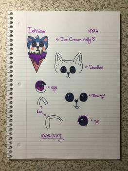 Inktober Ice Cream Kitty