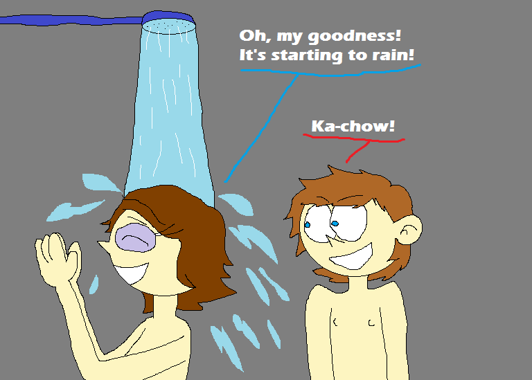 lightning and sally pretended the shower is a stor by matiriani28 on