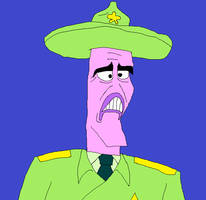 The Warden from SpongeBob SquarePants by matiriani28
