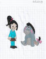 Vanellope Von Schweetz meeting gloomy Eeyore