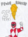 Happy Anniversary Power Rangers 25th by matiriani28