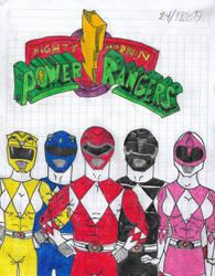 Season 1, 2 and 3 Mighty Morphin Power Rangers by matiriani28