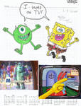 Mike and SpongeBob - I was on TV!