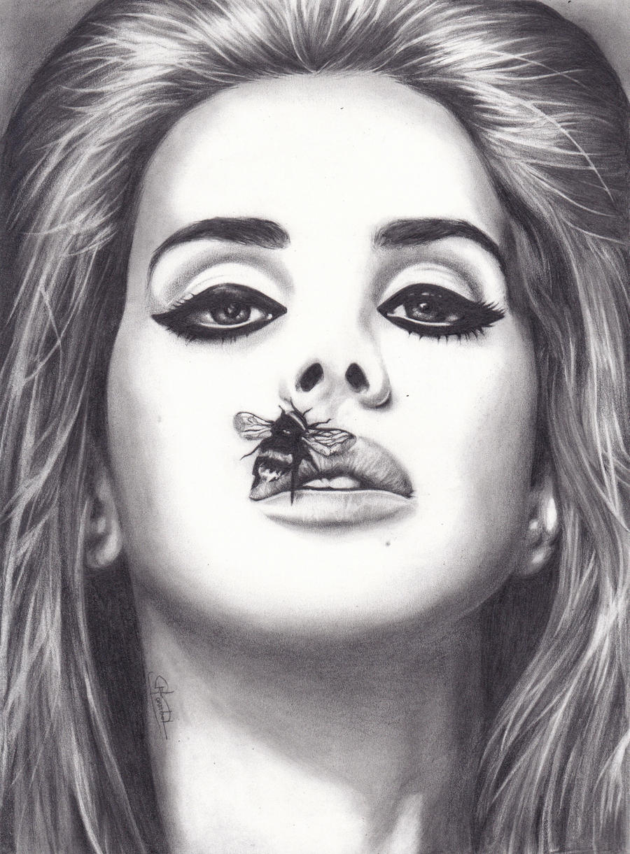 Lana del rey lips drawing the image kid for Lana del rey coloring pages