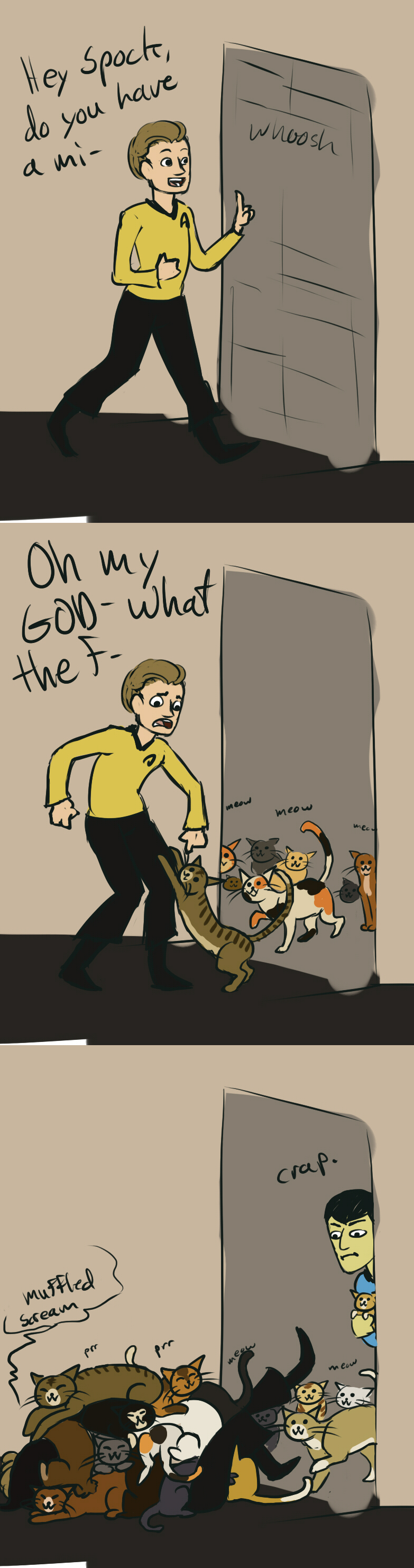 In which Spock is a crazy cat lady by gutter-child