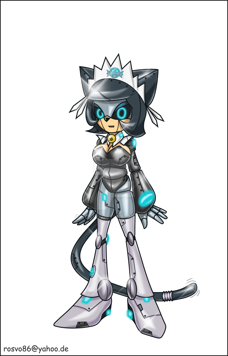 Mia the Robot Cat Maid by Rosvo