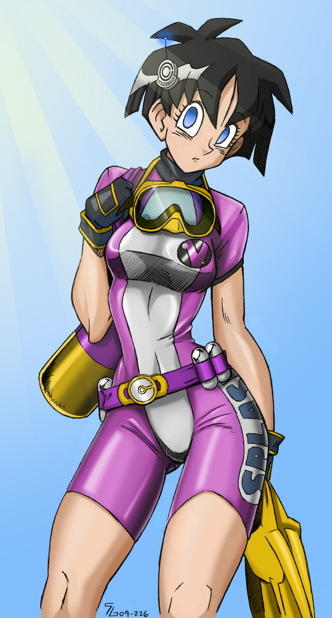 coloring - Videl Wetsuit by shoxxe by Rosvo on DeviantArt