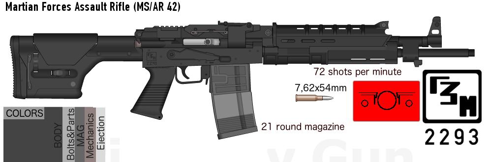MS/AR-42 (Definitive AKLA REMAKE) + Trivia by Sentient-Snow