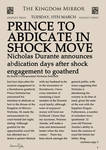 Prince to Abdicate in Shock Move