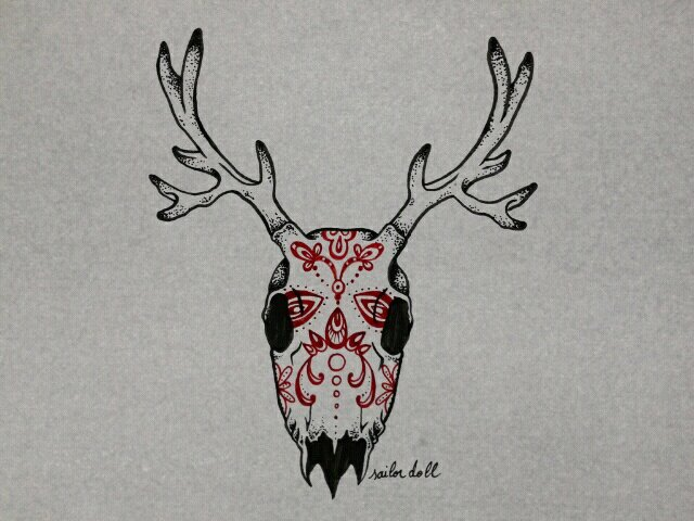 Sugarskull deer by ChimaeraUniverse