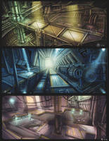 Futuristic interior sketches by spidermc