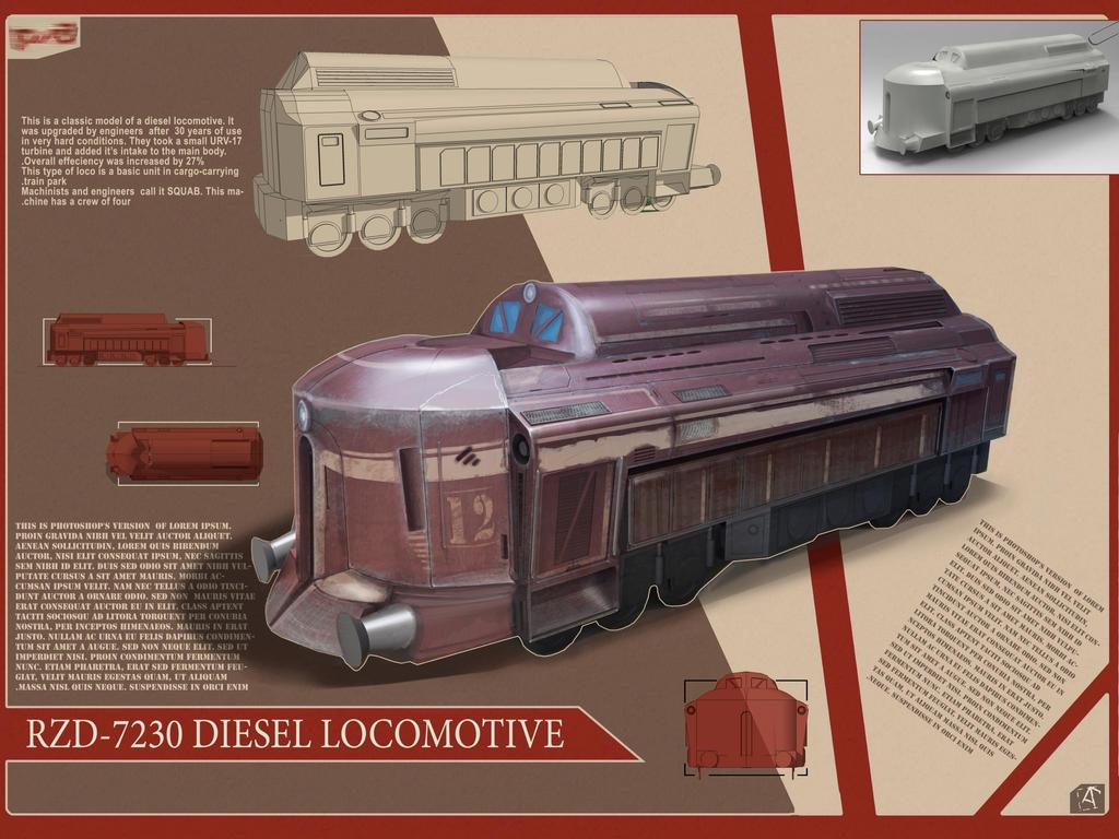 Futuristic Diesel Locomotive by spidermc