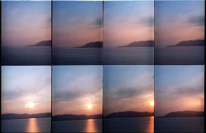 Twilight at the sea
