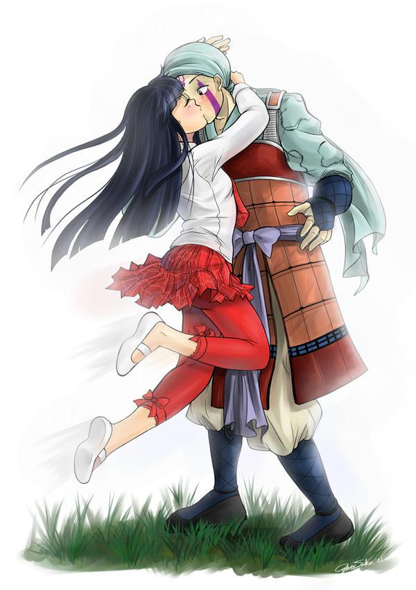 Anna and Renkotsu by CyberSaku