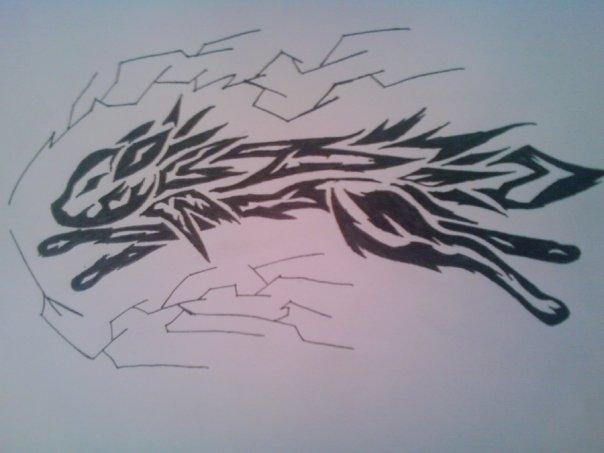 Jolteon Tribal Tattoo by Nokill-Negi