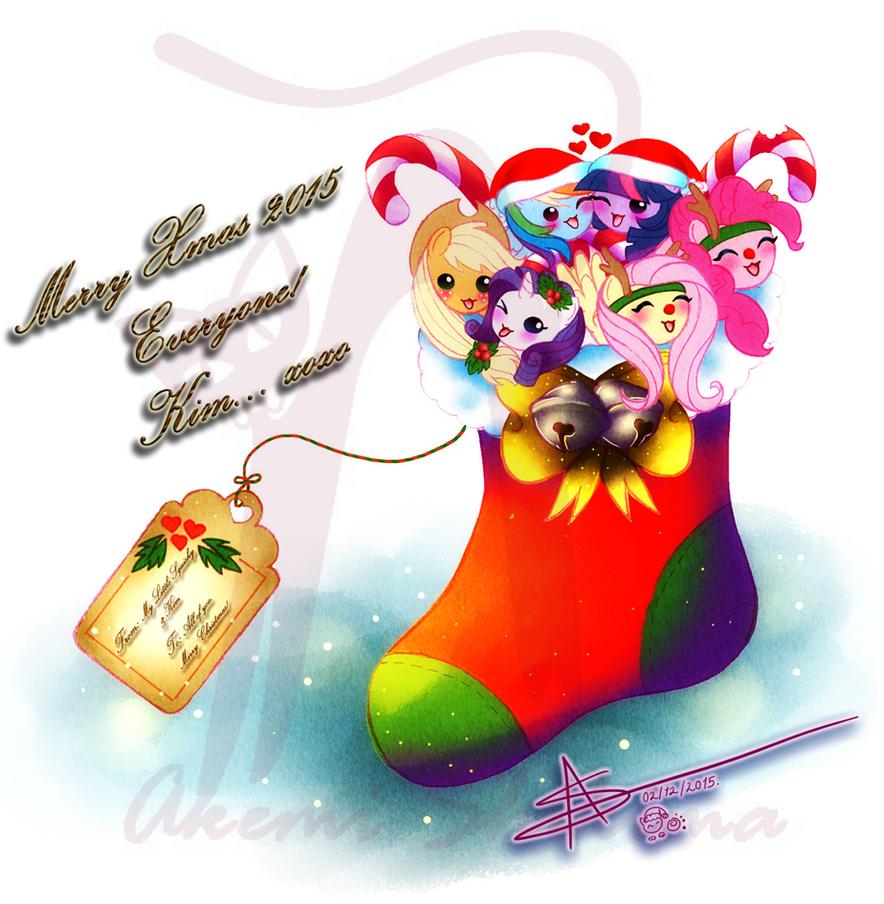 My Little Squishy Xmas Card 2015 by ShikimaAkemi