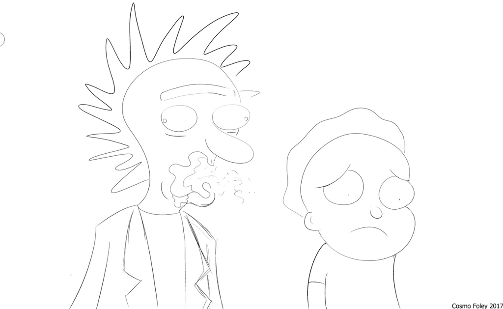 Rick and Morty by CosmoHibdon