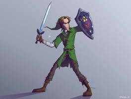 THE LEGEND OF ZELDA / LINK by MrSpikeArt