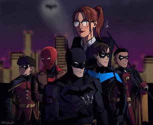 DC TITANS / Bat-Family by MrSpikeArt