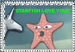 Starfish love you stamp by divastar1234