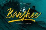 Banshee Brush Script Font