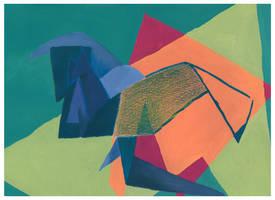 cubism crane by wind-hime-kaze