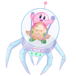 Kirby and Shroomishtronaut Space Collab