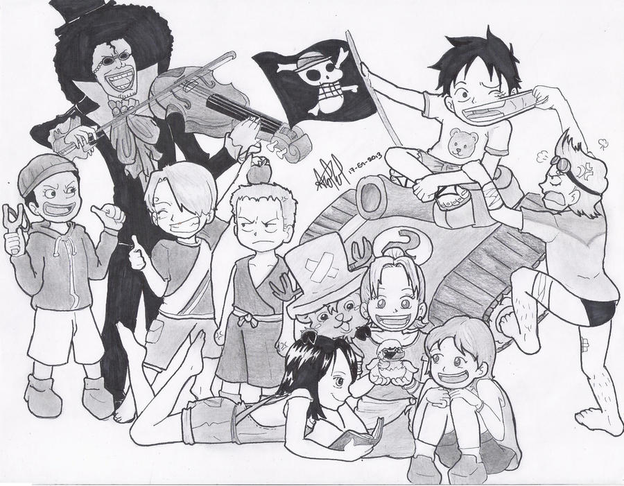 One Piece Children -And Brook- by Andrea--P