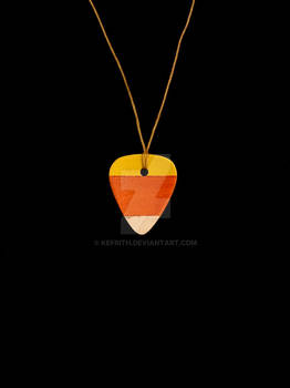 Candy Corn Guitar Pick Charm