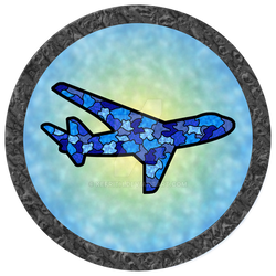 Blue Jet Stained Glass Window (Commission)