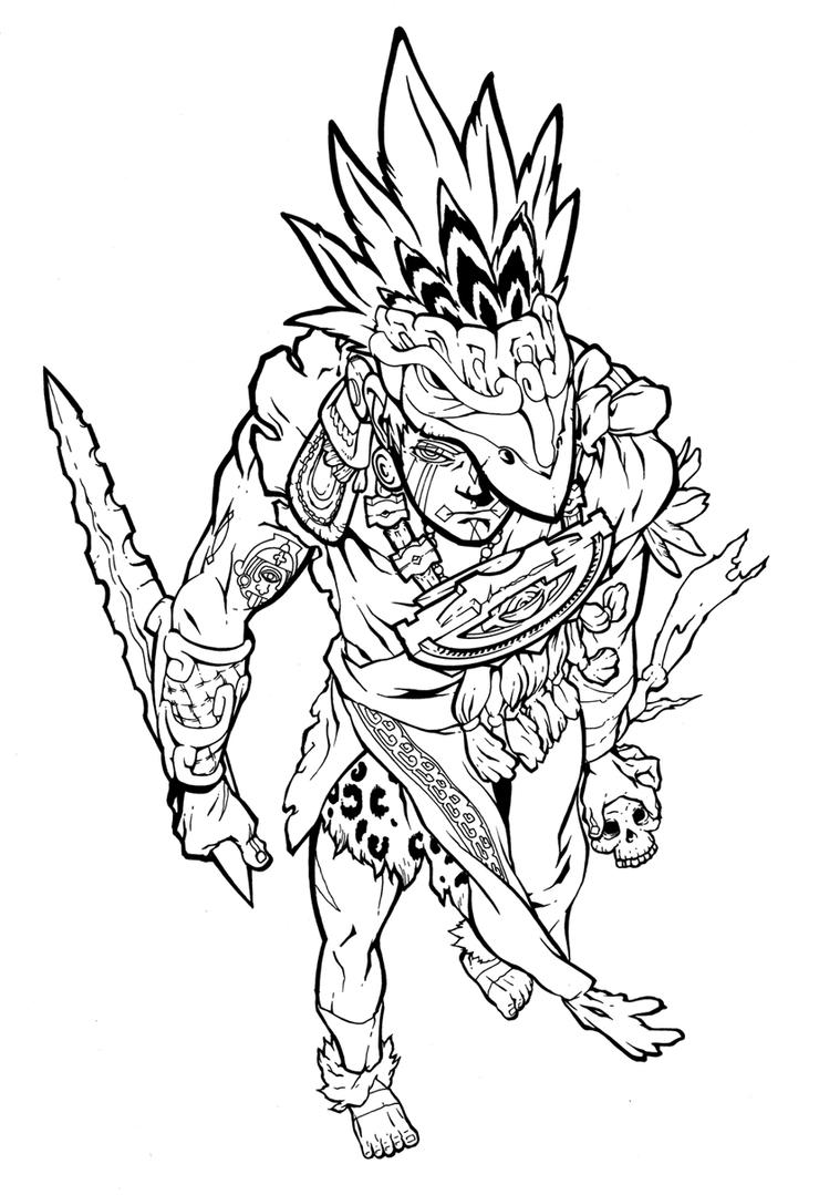 Aztec knifey soldier b...