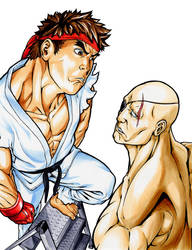 Ryu 1ups Sagat 1 by bananakun